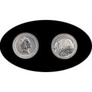 Australia 1997 20,77 gr  10 dólares Puente del puerto de Sidney Plata Silver