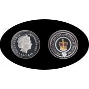 Australia 2003 1 onza 1 dólar Corona Plata Silver