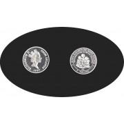 Cook Islands 1997 2 dólares 19,98 g Reina Elizabeth Plata