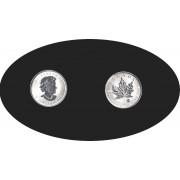 Canadá 2004 3 dólares 1/4 oz Hoja de arce Reina Isabel II  Plata 0.999