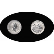 Australia 1997 10 dólares  20,77 g Representación de la Ópera de Sydney Plata