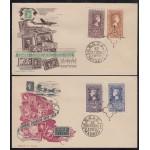 España Spain 1075/76 + 1079/80 1954 Centenario del sello español SPD