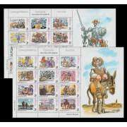 España Spain Minipliego 61A/B 1998 Correspondencia Epistolar El Quiote Cervantes
