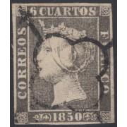 España Spain 1A 1850 Isabel II Usado