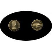 Canada 100$ 1988 ballena fauna Elisabeth II Oro Gold Au