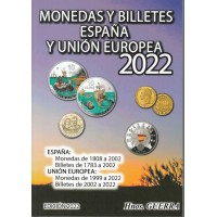 Catálogo Hnos. Guerra Monedas y Billetes España y Unión Europea Ed. 2022