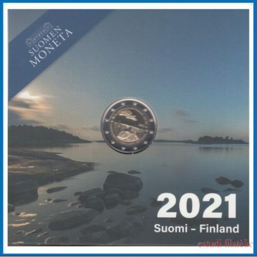 Finlandia 2021 Cartera Oficial 2  € euros conm. Proof Aland