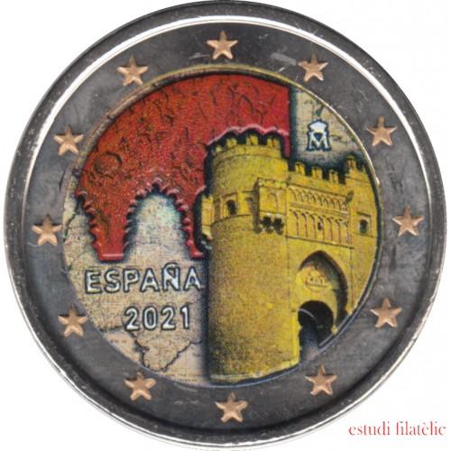 España 2021 2 € euros conmemorativos Color 2 Ciudad histórica de Toledo