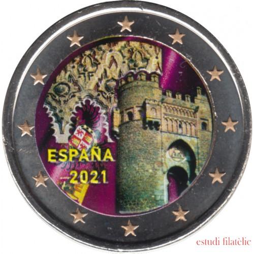 España 2021 2 € euros conmemorativos Color 3 Ciudad histórica de Toledo