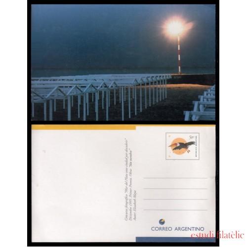 Argentina Tarjeta Postal 1995 Mar del Plata Playa Faro