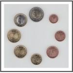 España 2020 Emisión monedas Sistema monetario euro € Tira