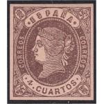 España Spain 58 1862 Isabel II MNH