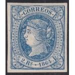 España Spain 68 1864 Isabel II MNH