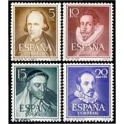 España Spain 1071/74 1950 - 1953 Escritores Calderón Lope MNH