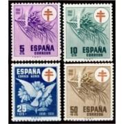 España Spain 1084/87 1950 Pro tuberculosos Cruz de Lorena  MNH