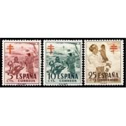 España Spain 1103/05 1951 Pro Tuberculosos MNH