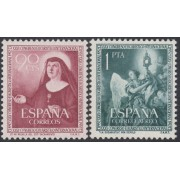 España Spain 1116/17 1952 Congreso Eucarístico MNH