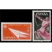 España Spain 1185/86 1956 U. Alegorías MNH