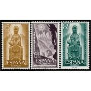 España Spain 1192/94 1956 Jubilar de Montserrat LUJO MNH