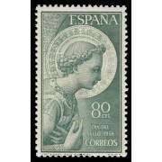 España Spain 1195 1956 Arcángel San Gabriel LUJO MNH