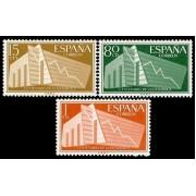 España Spain 1196/98 1956 I Centenario de la estadística Española LUJO MNH