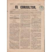 España Spain Timbres de Periódicos P.2 1857  Timbre Azul El Consultor