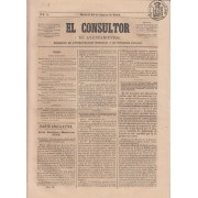 España Spain Timbres de Periódicos P.1 1864 El Consultor 18 Marzo 1864 Madrid