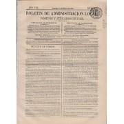 España Spain Timbres de Periódicos P.13 1867 Boletin de Adm. Local Pósitos y Juzgados de Paz