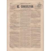 España Spain Timbres de Periódicos P.7 1865 El Consultor