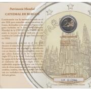 España Spain 2012 Cartera Oficial Moneda 2€ euros conmemorativos Proof Patriomio Catedral de Burgos FNMT