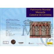 España Spain 2010 Cartera Oficial Moneda  2€ Patrimonio Mezquita de Córdoba + Hojita Bloque  FNMT