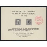España Spain Hojitas Recuerdo 2 1972 FNMT Tirada 460 300€ Matasello Rojo