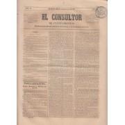 España Spain Timbres de Periódicos P.5 1864 El Consultor