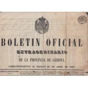 España Spain Timbres de Periódicos P.10 1865 Boletin Oficial