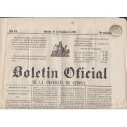 España Spain Timbres de Periódicos P.14 1867 Boletin Oficial