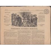 España Spain Timbres de Periódicos P.17 1871 Periódico Satirico Semanal