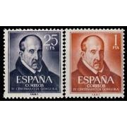 España Spain 1369/70 1961 IV Centenario del nacimiento de Luis de Góngora  y Argote Lujo MNH
