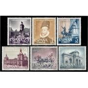 España Spain 1388/93 1961 IV Centenario de la Capitalidad de Madrid LUJO MNH