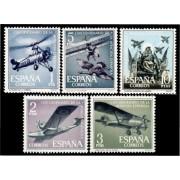 España Spain 1401/05 1961 L Aniversario de la Aviación Española LUJO MNH