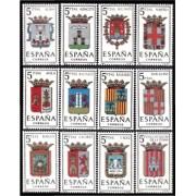 España Spain 1406/17 1962 Escudos de las Capitales de provincias españolas LUJO MNH