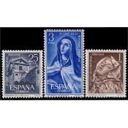 España Spain 1428/30 1962 IV Centenario de la  Reforma Teresiana LUJO MNH
