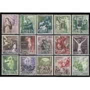 España Spain 1463/77 1962 Misterios del Santo Rosario LUJO MNH