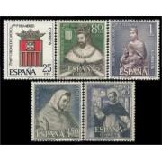 España Spain 1521/25 1963 LXXV Anv. de la coronación de Nuestra Señora de la Merced LUJO MNH