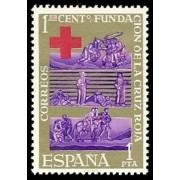 España Spain 1534 1963 Centenario de la Cruz Roja Internacional LUJO MNH