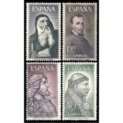 España Spain 1536/39 1963 Personajes Españoles LUJO MNH