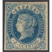 España Spain 57 1862 Isabel II MH