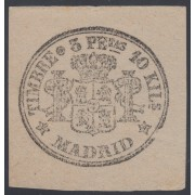 España Spain Timbres de Periódicos P.17 1871 Raro