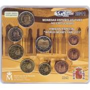 España Spain 2011 Cartera Oficial Euros + 2€ Conmemorativos Granada Alhambra ... Emisión  Berlín FNMT Word Money Fair