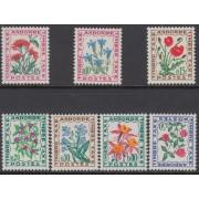 Andorra Francesa- 46/52 T  1964 - 1971 Flora Flores del campo MNH