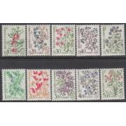 Andorra Francesa 53/62  1985 Flora Bayas salvajes MNH